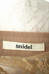 snidel(スナイデル) 11SS レース切替シャツブラウス F ブラウン レディース【バズストア 古着】【中古】