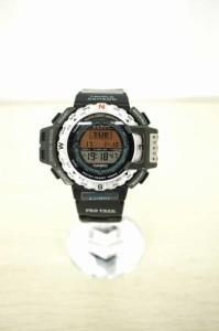 CASIO(カシオ) PRO TREK クォーツ腕時計 表記無 ブラック × シルバー メンズ【バズストア 古着】【中古】