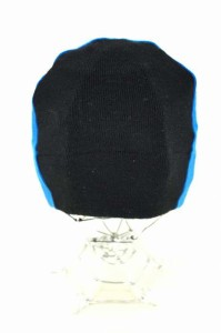 COMME des GARCONS COMME des GARCONS(コムデギャルソンコムデギャルソン) バイカラーニットキャップ ニット帽 表記無 ブラック × ブル