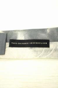 NANO UNIVERSE GROUNDFLOOR(ナノ・ユニバースグラウンドフロアー) プリントネクタイ 表記無 グレイ メンズ【バズストア 古着】【中古】