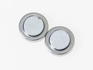 男女兼用 ファッション小物 丸型 磁石タイプ マグネットピアス /3個入#12mm/シルバー 送料込