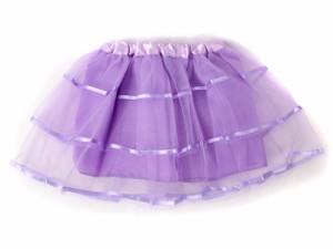 子ども ガーゼスカート プリンス風 線入り ドレス/紫色【新品/送料込み】
