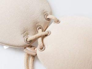 コルセットタイプ ヌードブラ 胸パッド ボリュームアップ #ベージュ/Bカップ 送料込