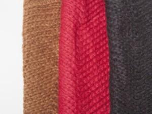 冬 ファッション 男女兼用 防寒対策 お洒落 手編み風 シンプル 波模様 ニット ショール マフラー/200cm# ブラック 送料込