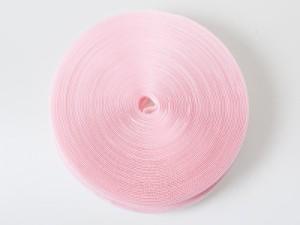 幅2.5cm 全長25m ベルクロ 面ファスナー 手芸 結束バンド#ピンク【新品/送料込み】