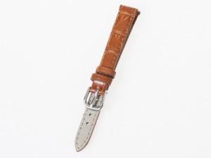 上質感 汎用 本革 ワニ革風 腕時計 ベルト ブレスレット バンド 交換用#幅12mm/ライトブラウン 送料込
