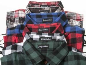 ファッション フェイクシャツ つけ襟 角襟# チェッカー模様A/レッド+ブラック 送料込