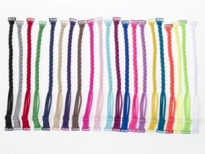 レディースファッション お洒落 三つ編みタイプ ブラジャー付け替えストラップ #エメラルドブルー【新品/送料込み】