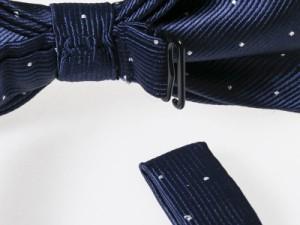 メンズファッション ビジネス カジュアル お洒落 ドット ネクタイ×ポケットチーフ 2点セット#バイオレット