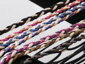 レディースファッション ボヘミアン風 カチューシャ ヘアバンド お洒落 アクセサリー#タイプC/ベージュ×桃×橙色【新品/送料込み】