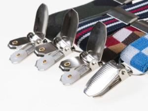 ファッション 子供用 サスペンダー 4クリップタイプ 幅2.5cm#ブラック+ホワイト+レッド【新品/送料込み】
