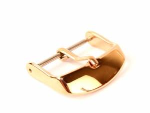 ステンレス製 交換用 汎用タイプ 腕時計 尾錠 金具 ローズゴールド#20mm