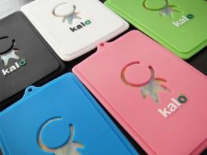 【Kalo】KaloPassシリコンパスケース/ネームタグ/定期入れ/ピンク【新品/送料込み】