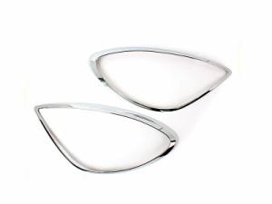ベンツ R171 クローム メッキ フロントランプリム ヘッドライト トリム ベゼルカバー【新品/送料込み】