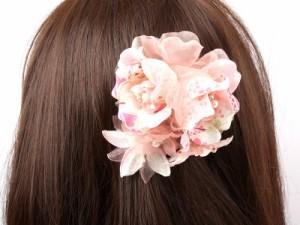 【MITHX】お洒落な髪飾り/ブローチ/手作りヘアアクセサリー/和風桜/ピンク 送料込