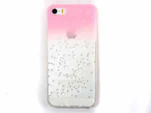 iPhone5ケースカバー立体水玉 ピンクxホワイトグラデーション 送料込