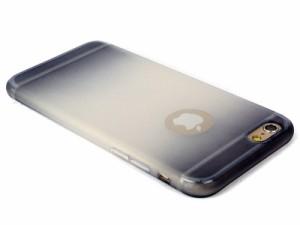 Apple iPhone 6 / 6s  SE グラデーションカラー ソフトケースカバー#グレー