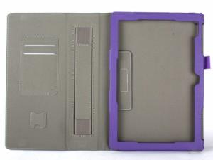 Asus Zenpad 10 Z300C カード入れ 上質PUレザー 手持ち スタンドケース#パープル 送料込