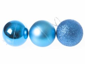 クリスマスにぴったり!パーティー イベント 飾り デコ オーナメント ボール/6cm×24個#スカイブルー 送料込