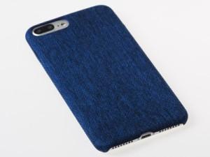 Apple iPhone 7 Plus iPhone 8Plus専用 デニム風 滑り止め 軽量型 TPU製ソフトケース 保護カバー#ブルー 送料込