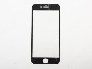 Apple iPhone 7 iPhone 8用 マーブル模様 3D曲面 強化ガラス 前面 液晶保護フィルム ハードシート #ブラック 送料込