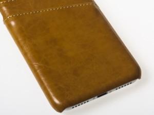Apple iPhone 7 Plus iPhone 8Plus 用 上質感 合成革 PUレザー カード入れ 収納 保護カバー ケース#イエロー