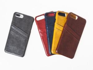 Apple iPhone 7 Plus 用 上質感 合成革 PUレザー カード入れ 収納 保護カバー ケース#イエロー【新品/送料込み】