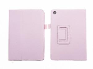ASUS ZenPad 3 8.0 Z581 専用 レイシPU風 横開き スタンドケース ハードカバー#ピンク【新品/送料込み】