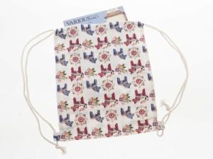 ファッション カジュアル 森ガール風 可愛い コットン亜麻製 巾着型リュック バックバッグ 紐付き#可愛い馬【新品/送料込み】