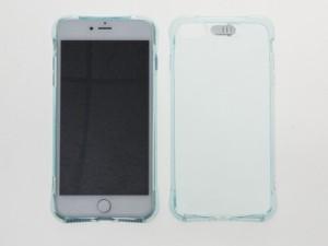 Apple iPhone 7 Plus iPhone 8Plus クッション TPUソフトケースカバー#ブルー