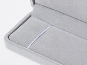 アクセサリ収納ケース プレゼントケース# ネックレス用ケース/首飾り用/グレー