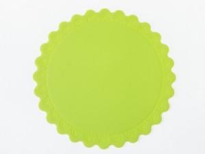 キッチン雑貨 シリコン製 シンプル ラウンド コースター# Mサイズ/グリーン 送料込