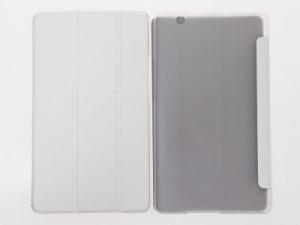 Huawei BTV-W09 BTV-DL09 Media Pad M3(8.4インチ)用 PUレザー 三つ折り スタンド 保護ケース#ホワイト 送料込
