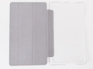 Huawei BTV-W09 BTV-DL09 Media Pad M3(8.4インチ)用 PUレザー 三つ折り スタンド 保護ケース#レッド【新品/送料込み】