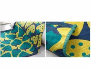 生活雑貨 寝具 枕に敷く タオル カバー 置き型タイプ/コットン製/お洒落 2枚入り#さかなC【新品/送料込み】