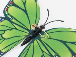 インテリア 装飾 イベント用など 安全ピン 立体 バタフライ ウォールデコ 12入#ローズB 送料込