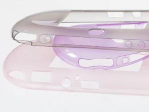 Sony PSV2000用 TPU製 無地 シンプル ソフトケース 保護カバー #クリアブラック 送料込