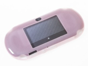 Sony PSV2000用 TPU製 無地 シンプル ソフトケース 保護カバー #クリアレッド 送料込