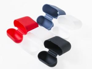 Apple Airpods用 ワイヤレスイヤホン用 収納 シリコン製 ソフトケース 保護カバー #ホワイト 送料込