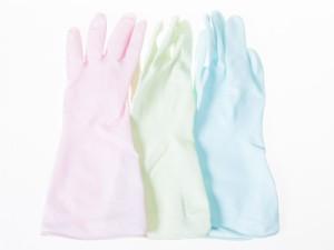 生活雑貨 キッチン雑貨 PVC+ラテックス素材製 掃除 洗濯 家事など作業 グローブ 手袋 #ブルー 送料込