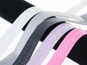 バドミントン・テニスなどラケット用 滑り止め グリップテープ 通気性#ピンク