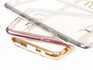 Samsung Galaxy S8 SC-02J/SCV36用 メッキ調 バンパー TPU保護ケース#ゴールド【新品/送料込み】