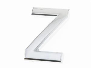 7cm 英字 アルファベット エンブレム ステッカー シール シルバー#Z
