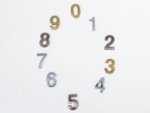 7cm 数字 ナンバー エンブレム ステッカー シール 真鍮色#2【新品/送料込み】
