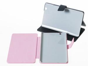 Huawei MediaPad M3 8.4インチ用 花模様入り PUレザー 手帳式 カバー スタンドケース#ブルー 送料込