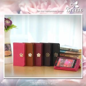 Google Nexus5 (LG-D821/EM01L)/Ymobile/レザー カバー/花の宝石/Flower Jewelry/手帳タイプ/手帳型/手帳ケース