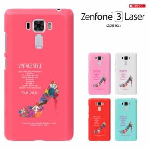 zc551kl カバー zenfone3 laser SIMフリー ASUS ZENFONE 3 LASER 透明 カバー ZC551KL ケース zenfone ハードケース カバー 花/かわいい
