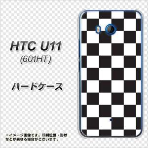 HTC U11 601HT ハードケース / カバー【151 フラッグチェック 素材クリア】(エイチティーシー U11 601HT/601HT用)
