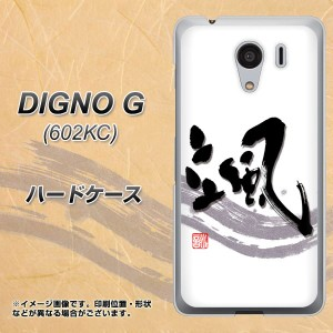 DIGNO G 602KC ハードケース / カバー【OE827 颯 素材クリア】(ディグノG 602KC/602KC用)