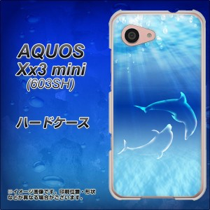 softbank AQUOS Xx3 mini 603SH ハードケース / カバー【1048 海の守り神イルカ 素材クリア】(アクオス Xx3 mini 603SH/603SH用)